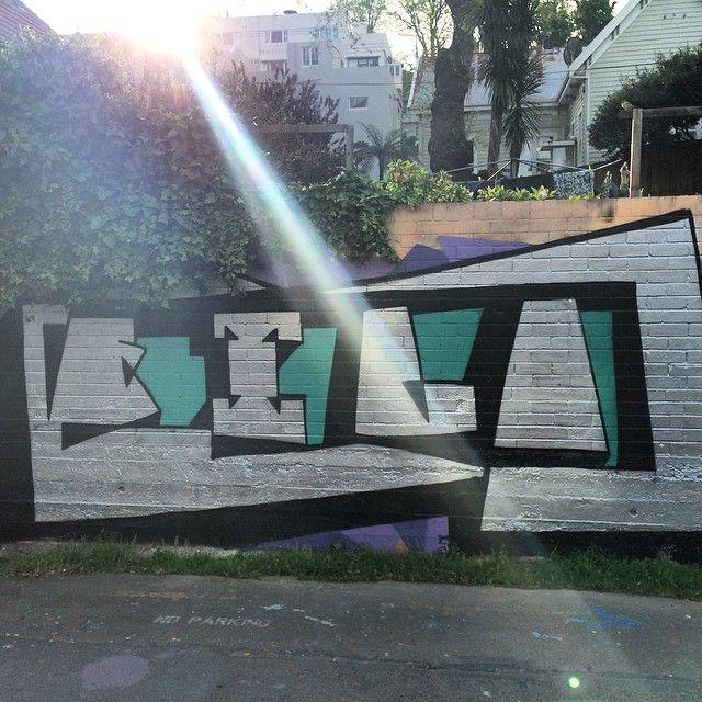 Filo at sunset. #graffiti