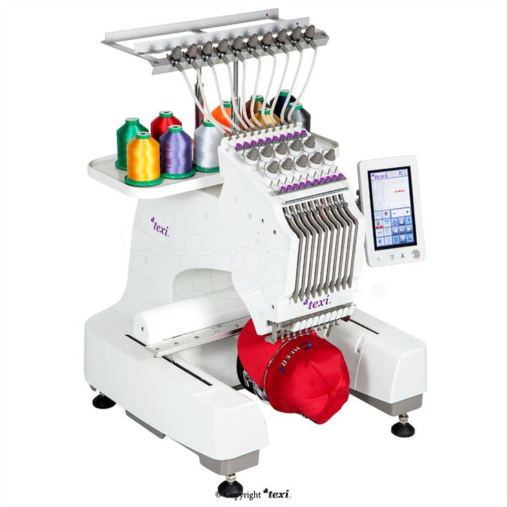 Texi Iris 10 - Compact, one-head, ten-needle embroidery machine. #texisewing #sewingmachine #industrial