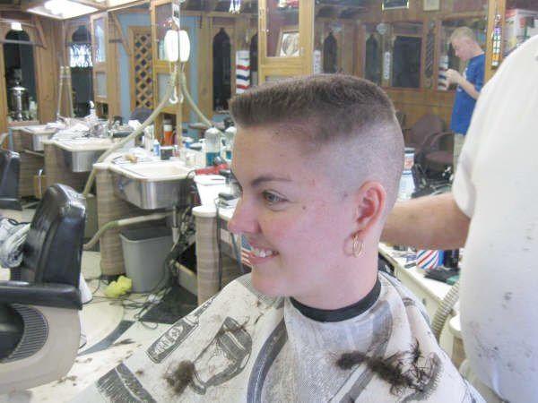 Barbershop Whitewalled Flattop Flat Top Haircut Mens