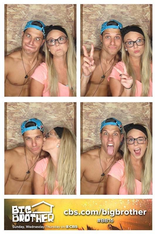 Cody and Nicole in the BB photobooth!