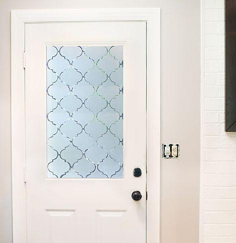 FROSTED FRONT DOOR