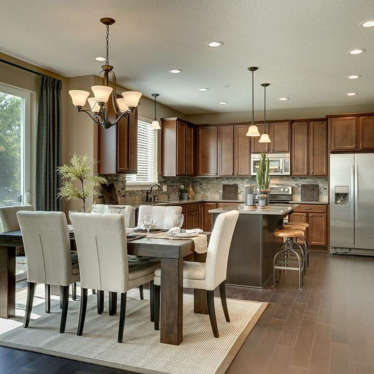 New Homes Decorated Models: Mattamy Homes Inspiration Gallery: Dining Area
