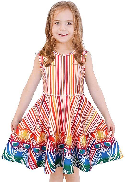 GIRL/'S CLOTHING My Little Pony Summer Sleeveless Dress Stripes 3-7 yrs
