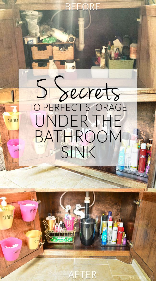 Bathroom Sink Organization Ideas Part - 28: Bathroom Organization {Under The Sink Tips Side 1