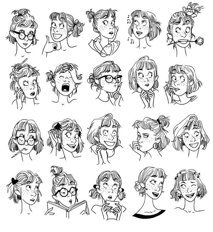 illustration margaux motin expressions.jpg - Margaux MOTIN | Virginie