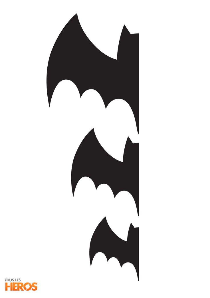 téléchargez les patrons chauves-souris pour les décorations de chambre Chica Vampiro