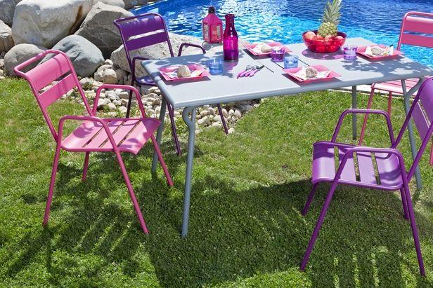impressionnant salon de jardin metal couleur | Décoration ...