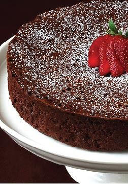 3-Ingredient Flourless Chocolate Cake –A fabulously rich, decadent chocolate cake for a delicious dessert.