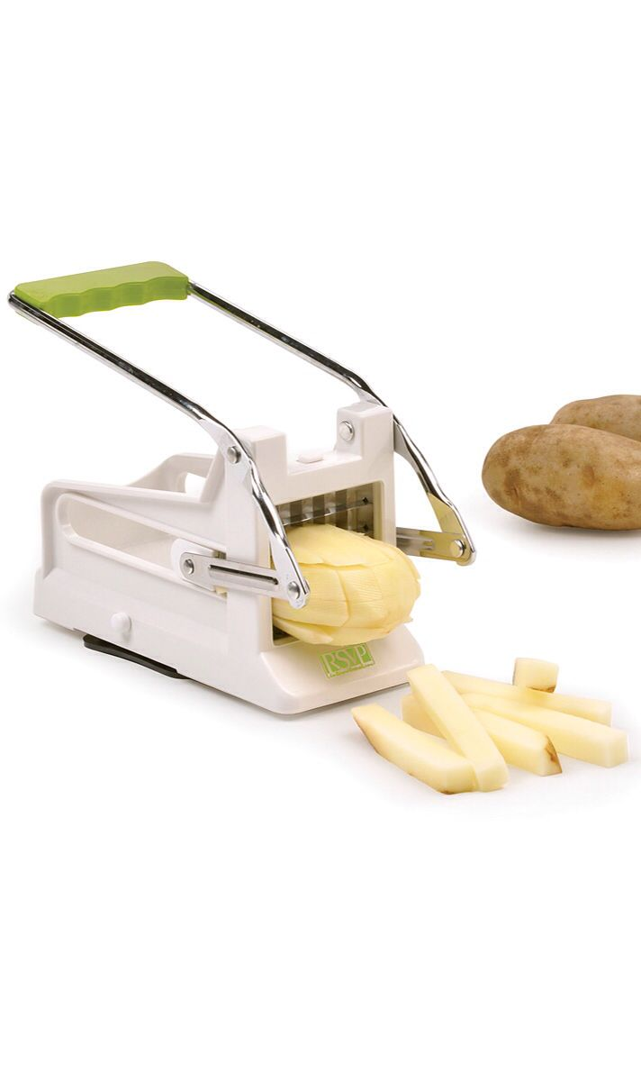 Perfect French Fry Cutter // turns potatoes into evenly cut fries in seconds #product_design