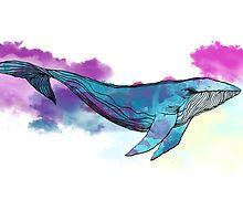Dreamy Whale by Aleksandra Kurczewska