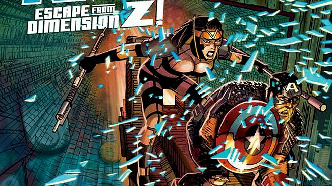 Jet Black and Captain America || Captain America #10: Escape from Dimension Z!