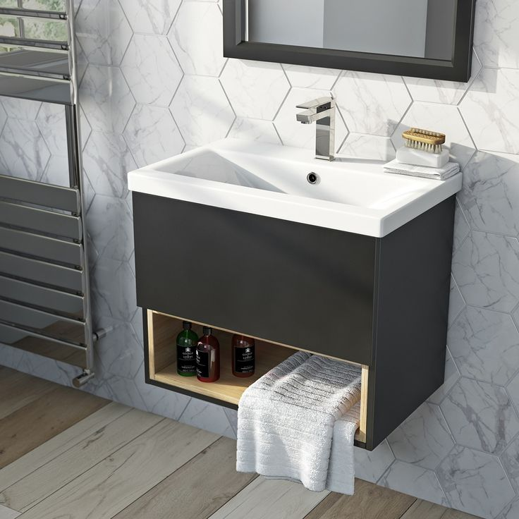 Photo Gallery For Website Mode Tate anthracite u oak mm wall hung vanity unit with basin