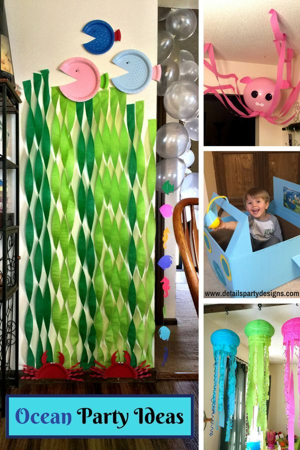 Party Under The Deep Blue Sea Details Party Designs Ocean Theme Party Ocean Theme Birthday Parties Sea Party Ideas