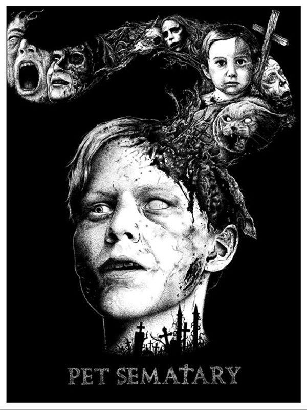 Into the Darkness Seduction...Portada de la película Pet Sematary o Cementerio de Animales, inspirada por el genial  libro del mismo título del genial Stephen King