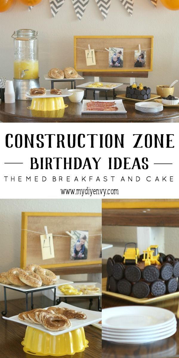 A fun filled construction zone birthday party. Great ideas for the decorations and menu. | www.mydiyenvy.com