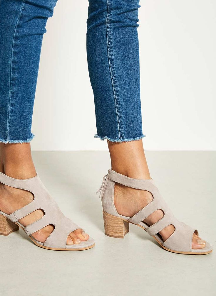 LENA LILAC CUT OUT SANDAL | Mint Velvet