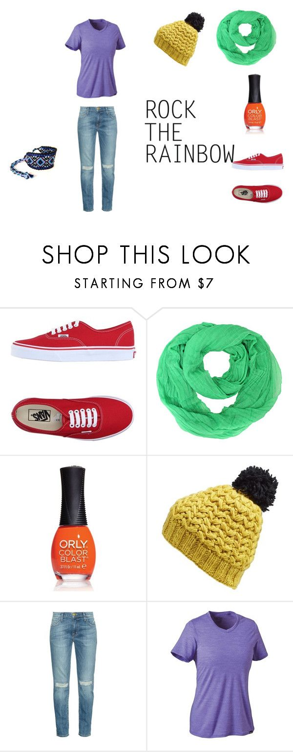 """ROCK THE RAINBOW"" by branda-eggert on Polyvore featuring Vans, ORLY, Nirvanna Designs, Current/Elliott, Patagonia, women's clothing, women's fashion, women, female and woman"