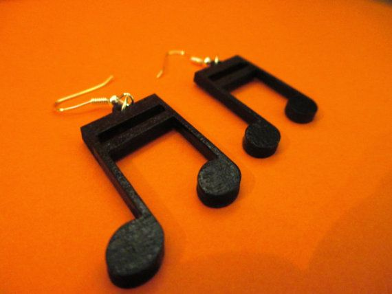 Originals wooden earrings shape of DOUBLE by CreazioniDalCelo