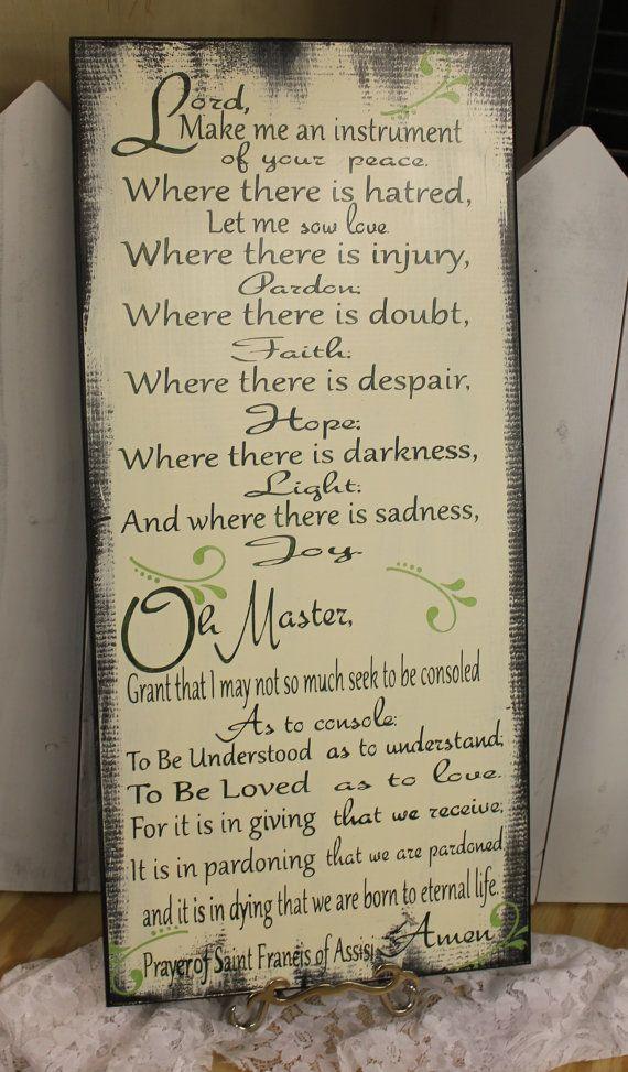 St. Francis Prayer/The Prayer of Saint Francis/Prayer of Saint Francis of Assisi/Prayer Art/Greens