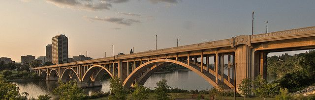 The Broadway Bridge in Saskatoon Saskatchewan