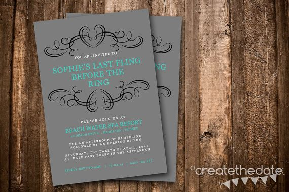 Bachelorette Party Invitation Digital by CreateTheDate on Etsy, $8.50