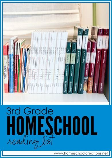 3rd grade homeschool reading list from Homeschool Creations - book choices and read alouds for a reluctant reader