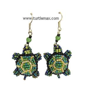 Free Beaded Earring Patterns | ... Turtles :: Turtle Jewelry and Trinket Boxes :: Beaded Turtle Earrings