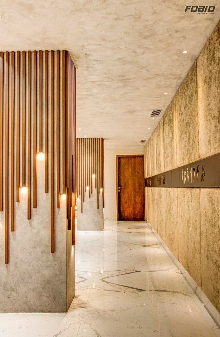 Wood On Pillars In 2019 Commercial Interior Design