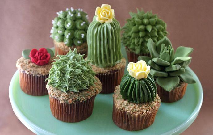 Tutorial cupcakes cactos