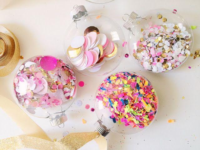 Pearls & Pastries Shop : Confetti Baubles DIY