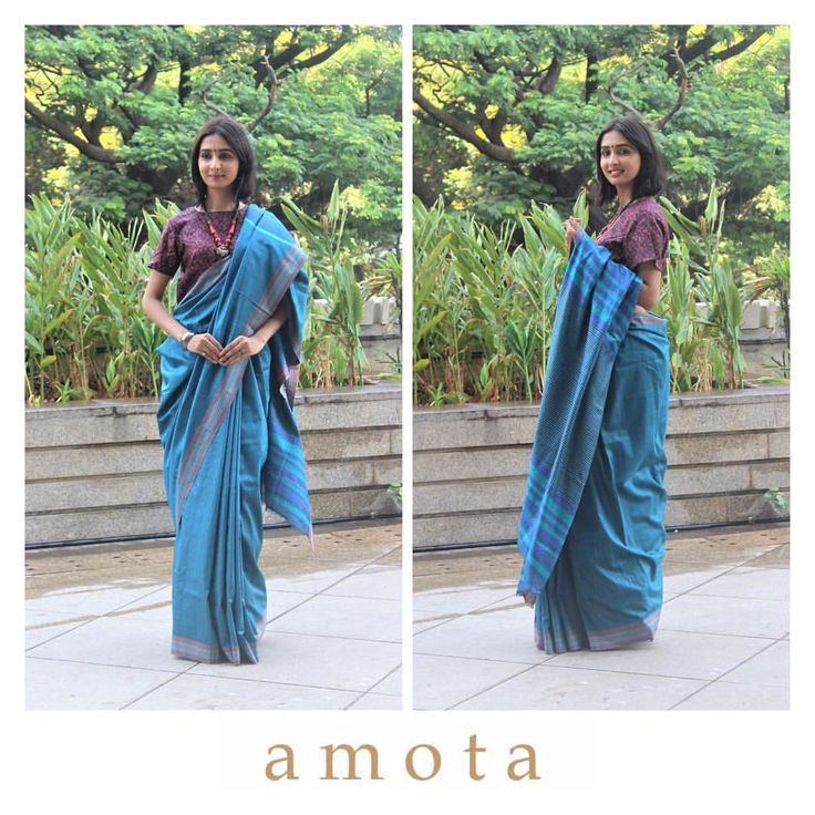 This Blue Handwoven Saree With Maroon Printed Blouse Is Made Of Silk. Showcase The Latest Designer Saree Online With A Kundan Jewellery Set For An Elegant Look. Dresses For Women By Designer A M O T A Will Be Sure To Make A Large Splash. Chest Upto 42 CM.