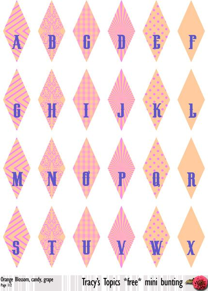 Free Printable – mini Bunting! {4 colour sets} — Pick-a ...