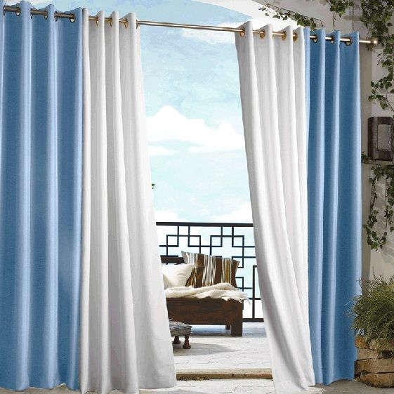 Create A New Outdoor Room | Blue Gazebo Solid Grommet Top Indoor Outdoor  Curtain Panel At