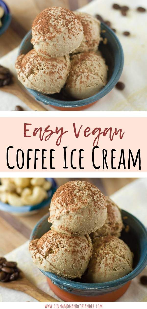 Vegan Coffee Cashew Milk Ice Cream