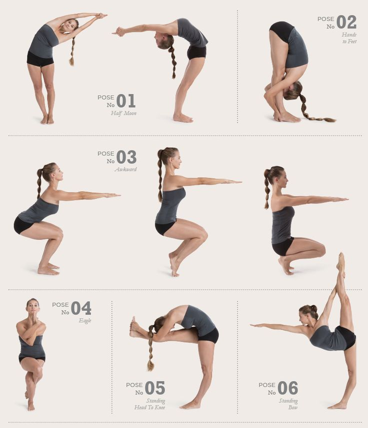 26 Bikram Yoga Poses   click to go to the Bikram page to see all 26 poses.