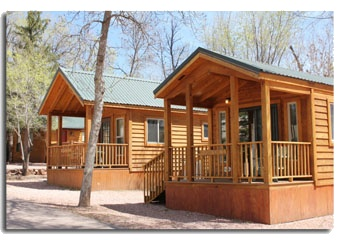 Cozy cabin in the woods garden of the gods rv resort pinterest - The recreational vehicle turned cabin in the woods ...
