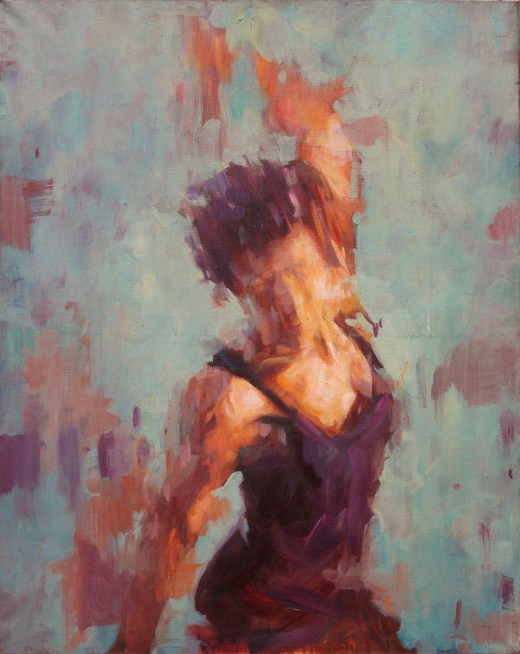 Throwing Back - Oil on canvas 122cm by 92cm by Jamel Akib. www.jamelakib.com