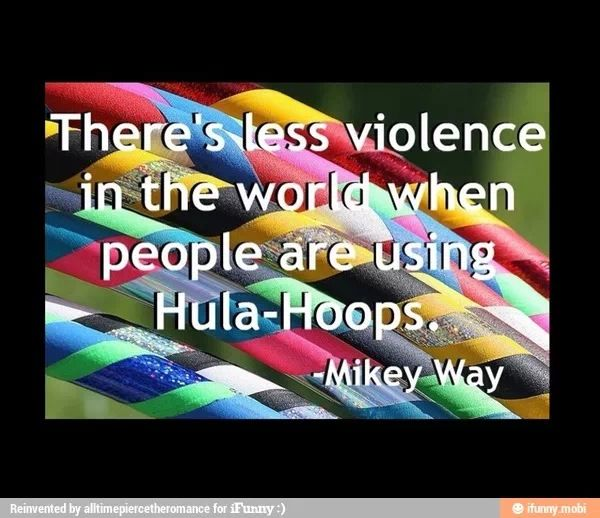 Could be used as a hooping quote..... and it's perfect because it's from Mikey :)