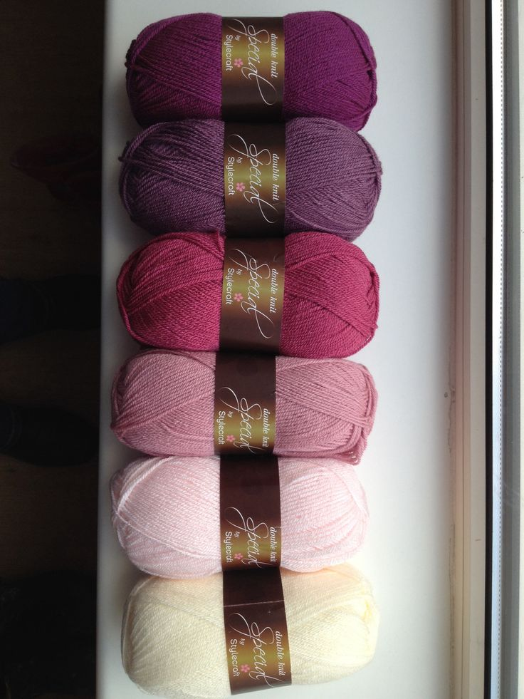 These are the colors for my blanket. Stylecraft Special DK