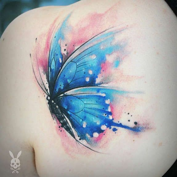 27 Pleasant Butterfly Shoulder Tattoos