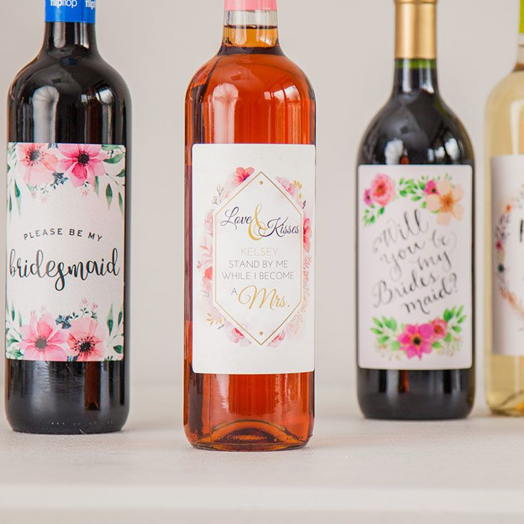 wine wedding shower gift poem%0A Ask your girls to be in your wedding with custom wine labels  bridesmaid  proposal  asking bridesmaids  will you be my  bridesmaid gift ideas