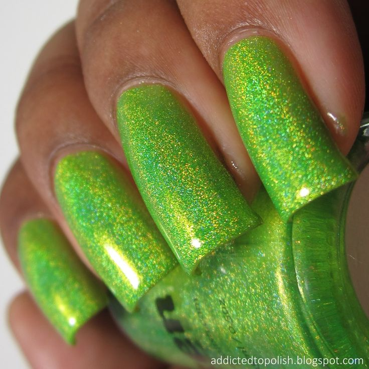 smitten polish electric lime