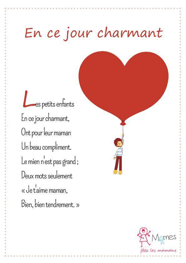 Super Les 30 meilleures images du tableau Poèmes fête des mères à  NF59
