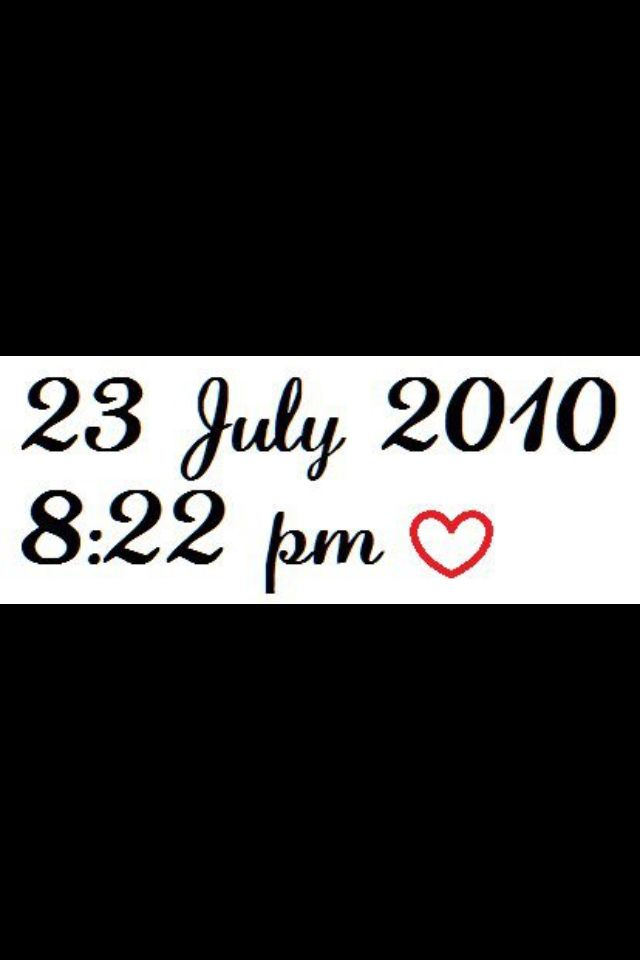 One Direction's birthday <3. they were put together at this exact date and time :)