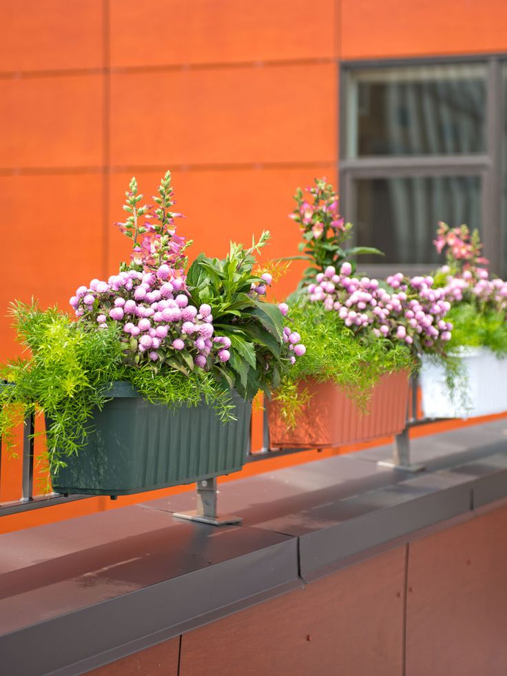 25 Beautiful Deck Railing Planters Ideas On Pinterest