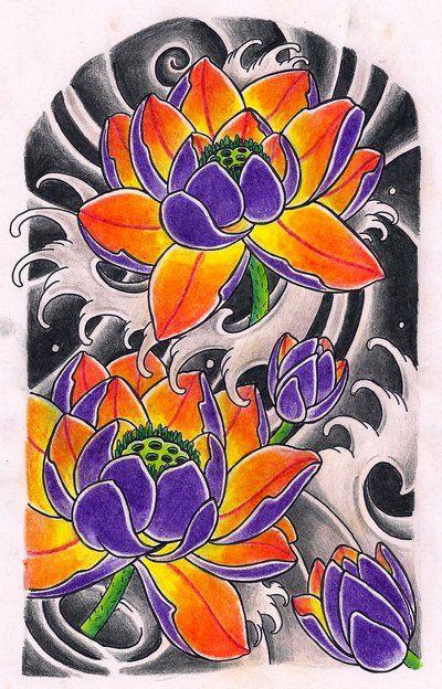 Lotus sleeve by Kirzten.deviantart.com on @deviantART