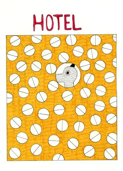 Mr.Master in the hotel  Art Print