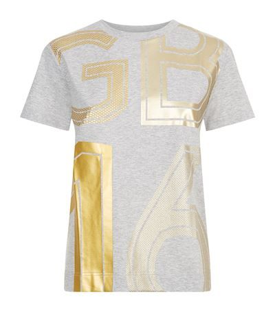 ADIDAS BY STELLA MCCARTNEY Team Gb Foil T-Shirt. #adidasbystellamccartney #cloth #