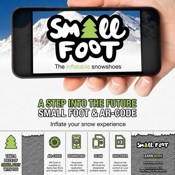 Small Foot chose AR-Code to show itself in augmented reality at ISPO Munich 2014