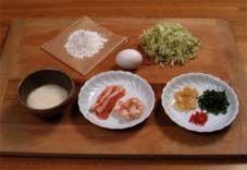 1 piece okonomiyaki with sauce recipe